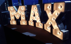 MAX! Happening now _waterviewvenue  We were so thrilled when Max's mum Tanya wanted to use our light
