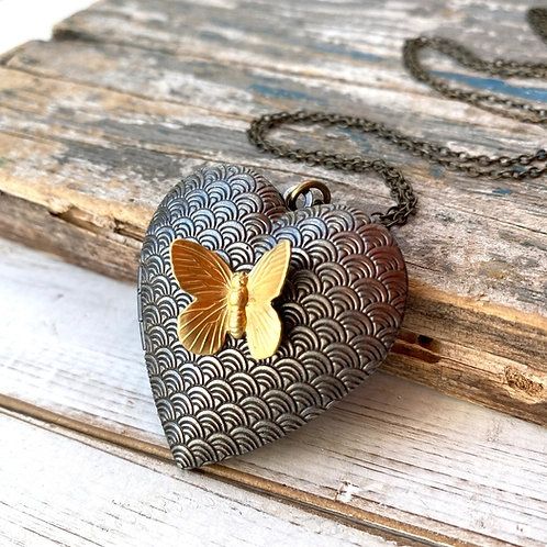 Butterfly Locket by Red Truck Designs