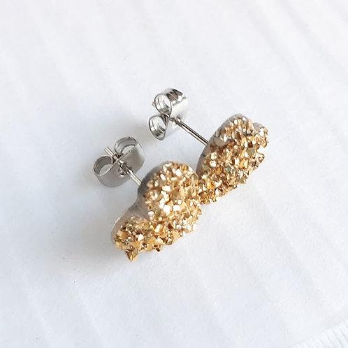Druzy Heart Stud Earrings by Jenna Scifres