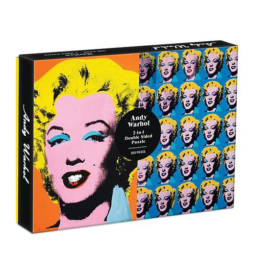 Any Warhol Marilyn 2-in-1 Puzzle- 500 Piece