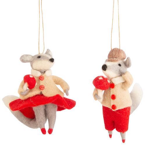 Fancy Badger Ornament