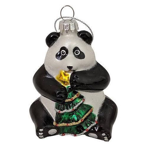 Christmas Panda Ornament