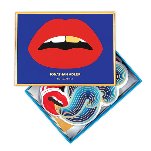 Jonathan Adler Lips Note Card Set