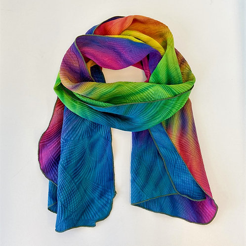 Matelasse Silk Scarf by Laverne Zabielski