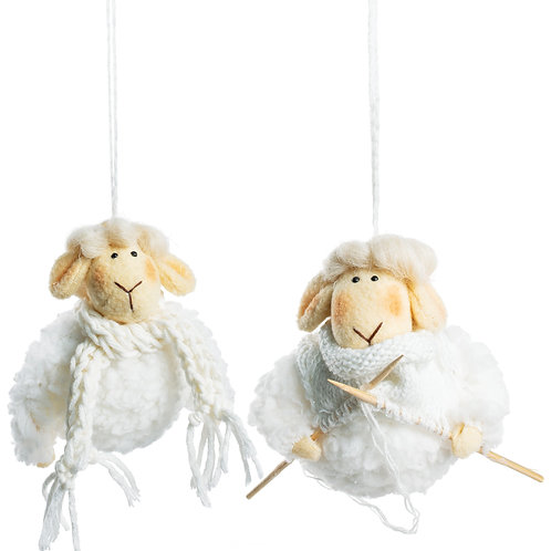 Yarn Ball Sheep Ornament