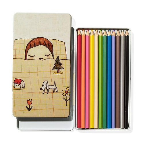 Yoshitomo Nara Colored Pencil Set