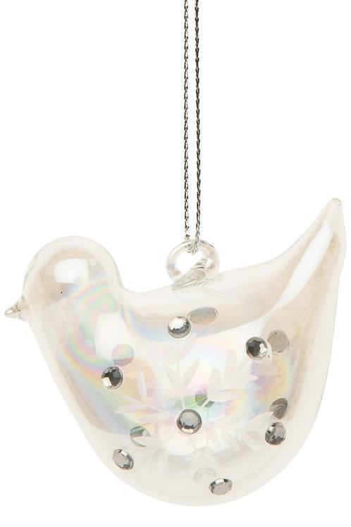 Iridescent Glass Bird Ornament