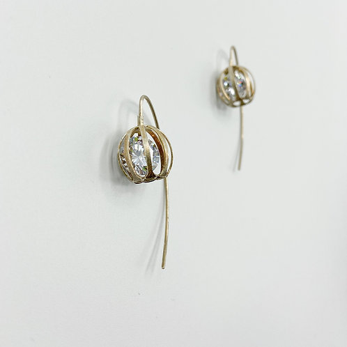 Caged Sparkle Earrings by Tip-To-Toe Jewelry