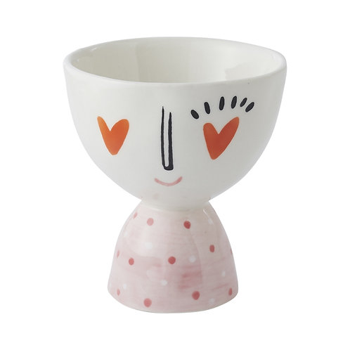 Heart Eyes Footed Bowl