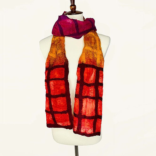 Windowpane Scarf by Pomegranate Moon