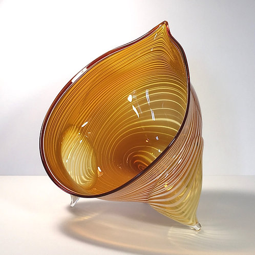 Pulled Pod Bowl by Chad Balster Glass