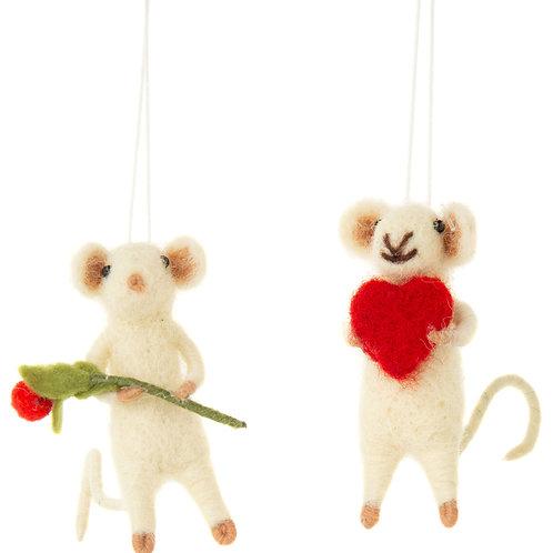 Mini Felt Mouse Ornament