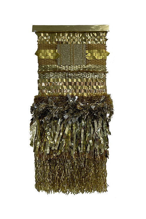 """Golden Birthday"" Weaving by Melissa Yungbluth"