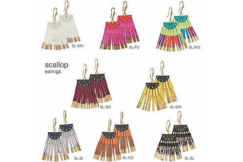 Scallop Earrings by Alexandra Tsoukala