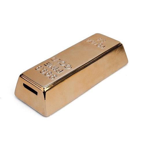 Gold Bar Coin Bank by Kikkerland Design