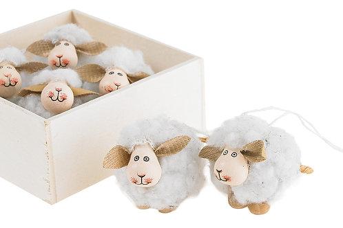 Wooly Sheep Ornament Set