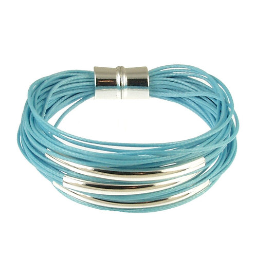 Silver Cotton Cord Bracelet by Origin Jewelry