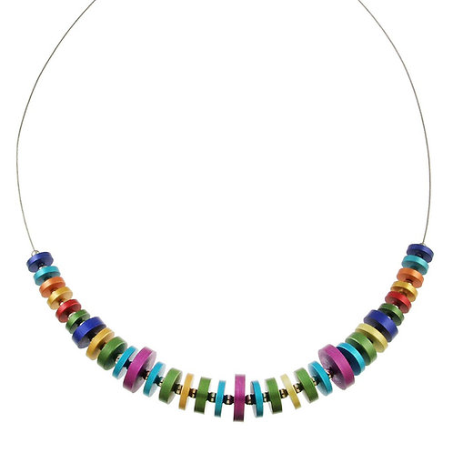 Multicolor Disc Necklace by Origin Jewelry