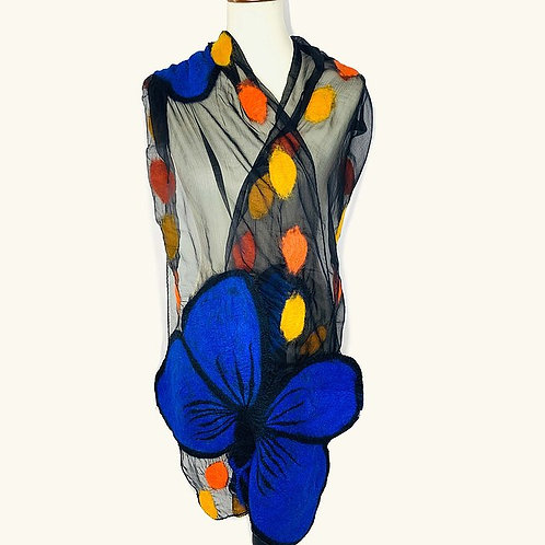 Morpho Butterfly Scarf by Pomegranate Moon