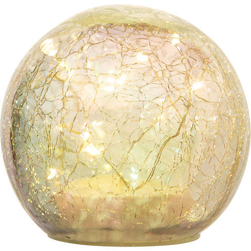 Large Crackle Glass Sphere