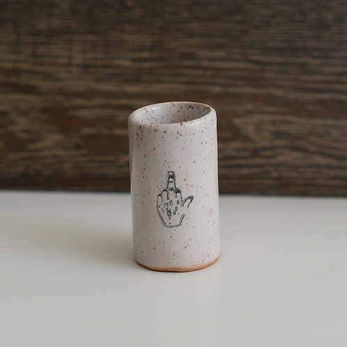 Middle Finger Tiny Tumbler by Mud & Maker