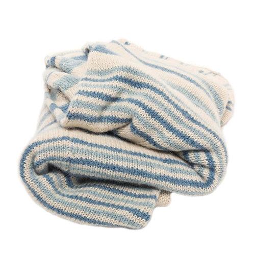 Alpaca Indigo Tide Blanket by Storyteller Studio