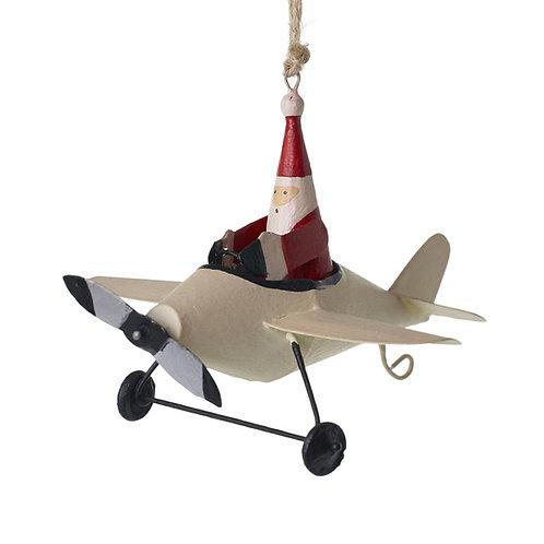 Pilot Santa Ornament