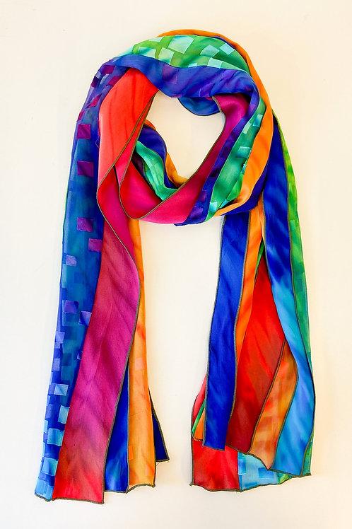 Multi Pieced Silk Scarf by Laverne Zabielski