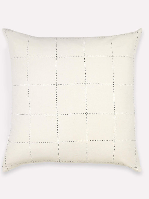 Grid-Stitch Throw Pillow by Anchal Project