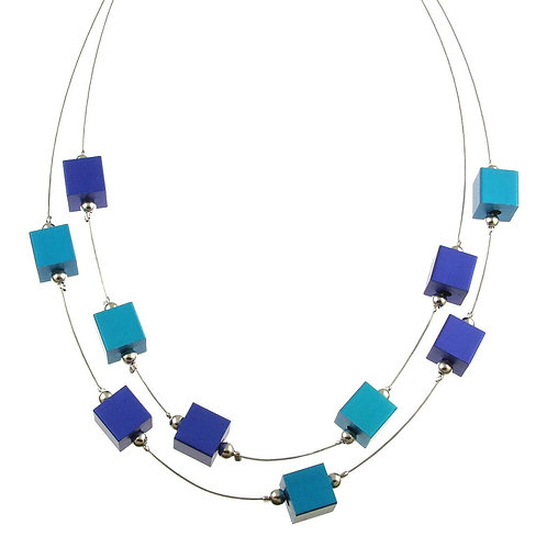 Two Strand Cube Necklace by Origin Jewelry