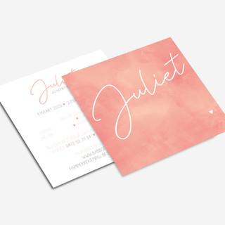 Vierkant (square) flyer - Geboortekaart