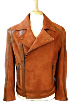 custom motorcycle jacket suede