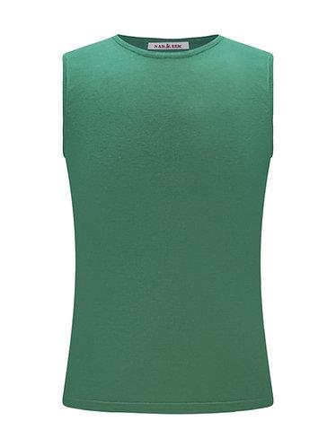 Sleeveless T-shirt 100%silk