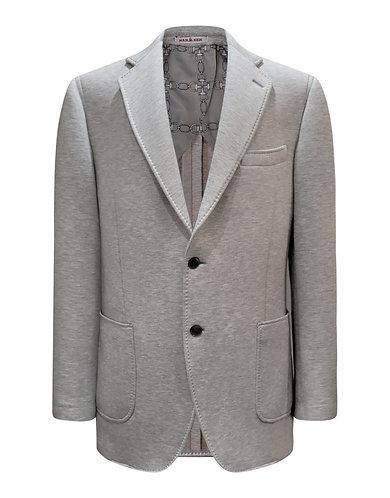 Knit jersey casual sport jacket