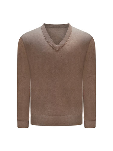 Vee Neck Sweater Silk & Cashmere