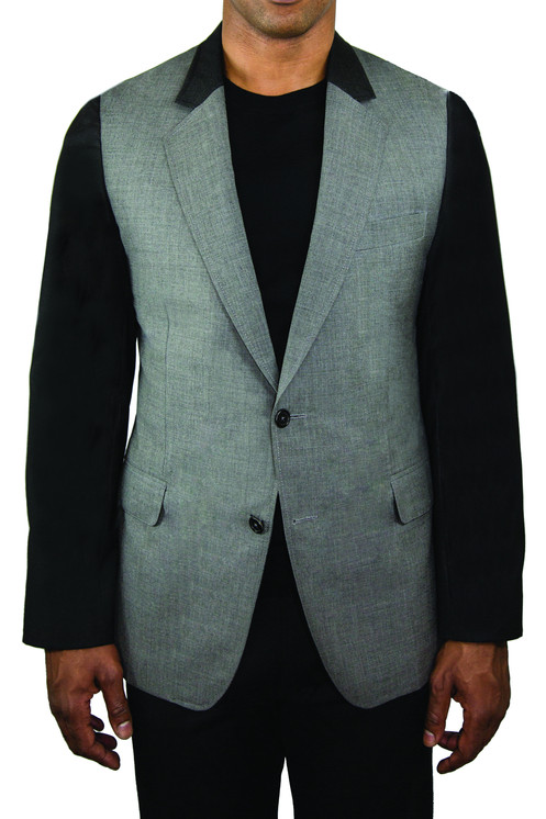 0fc598eb Nareek soft shoulder sport coat in gray wool with contrasting sleeves and  collar. This versatile jacket goes as well with trousers as it does with  casual ...