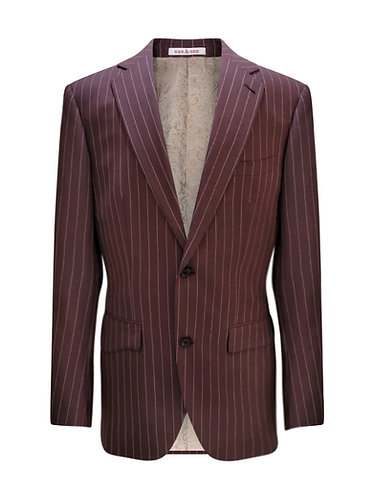Burgundy  Stripped Suit