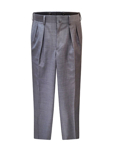 Men Pleated Wool Pants