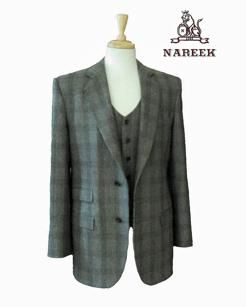 Custom made suits by NAREEK from European fabric.