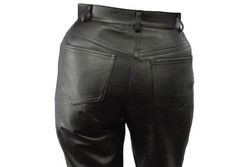 tailor made leather jeans