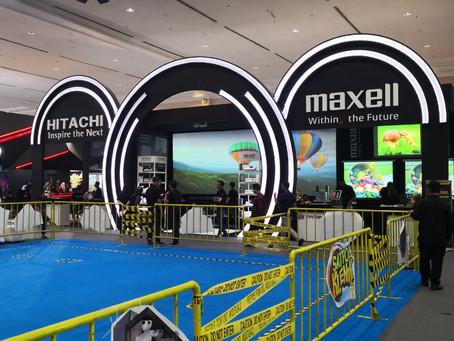 KEKINIAN! Maxell Projector dan Hitachi Projector di Indocomtech 2019!