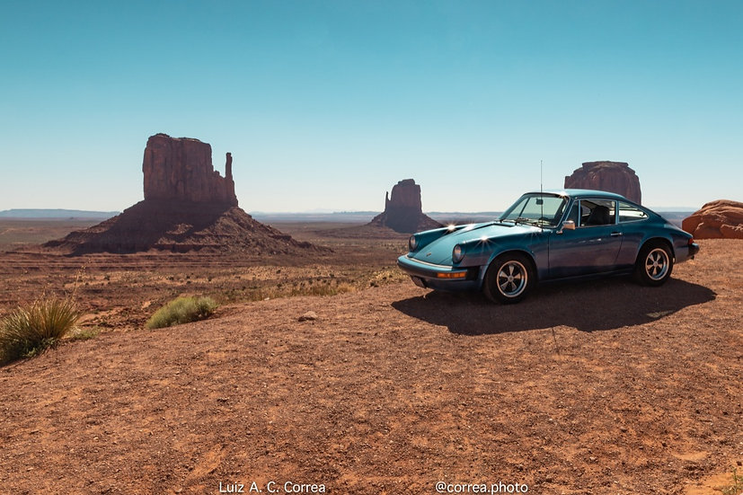 Porshe in Monument Valley