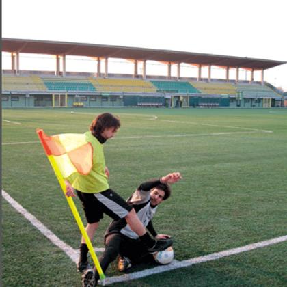 Bandierina calcio d'angolo con palo snodato