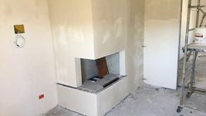 Installazione camino e creazione cabina
