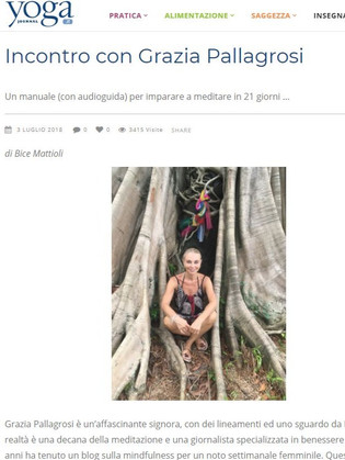 Incontro con Grazia Pallagrosi - Yoga Journal