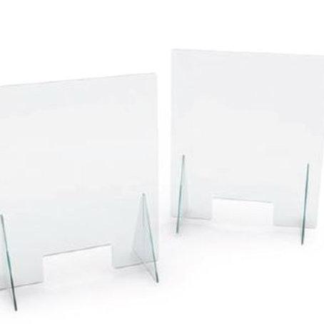 Barriera Protettiva plexiglass trasparente mod A passacarte h70 Cm 80x30