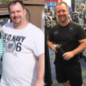 health coach richmond va Mike before and after weight loss