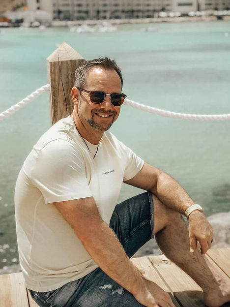 nutrition coach richmond va Mike sitting on dock
