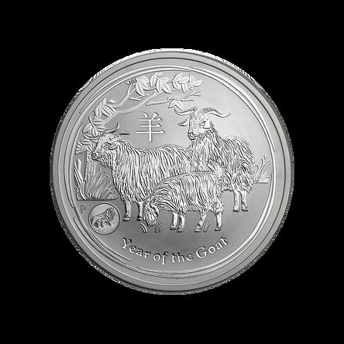 1 oz Silbermünze Lunar II Goat (Ziege) Unze 2015 Privy