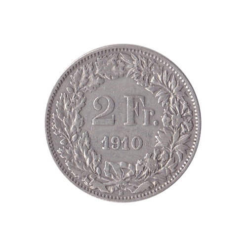 2 Franken 1910 Schweiz Silber Silbermünze